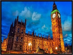 Anglia, Big Ben, Westminster, Pa�ac, Londyn
